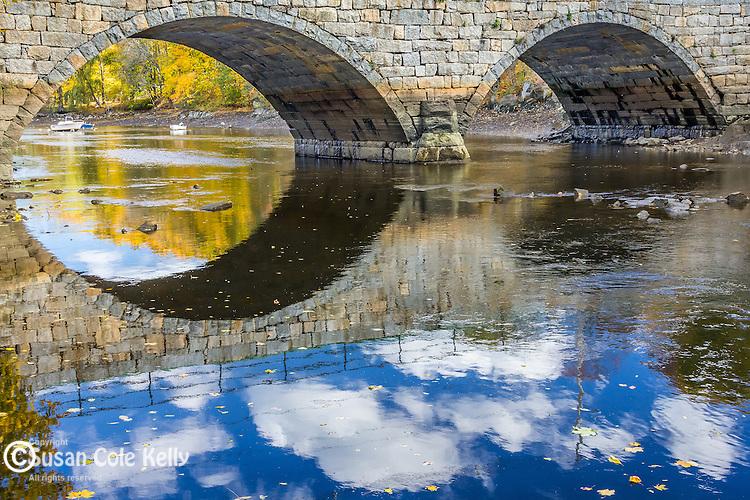 The Green Street Bridge in Ipswich, Massachusetts, USA