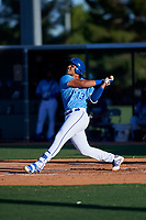 AZL Royals Diego Maican (13) at bat during an Arizona League game against the AZL Brewers Blue at Surprise Stadium on June 18, 2019 in Surprise, Arizona. AZL Royals defeated AZL Brewers Blue 12-7. (Zachary Lucy/Four Seam Images)