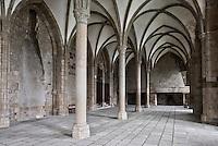 France, Manche (50), Baie du Mont-Saint-Michel, classée Patrimoine Mondial de l'UNESCO, le Mont-Saint-Michel, la Salle des hotes  //  France, Manche, Bay of Mont Saint Michel, listed as World Heritage by UNESCO, Mont Saint Michel, the room hosts