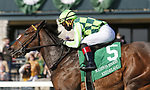 April 03, 2021: Kimari #5 ridden by Joel Rosario wins the Madison Stakes (Grade 1) on Blue Grass Stakes Day at Keeneland Race Course in Lexington, Kentucky on April 03, 2021. Candice Chavez/Eclipse Sportswire/CSM