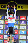 Dutch Champion Mathieu Van Der Poel (NED) Alpecin-Fenix wins the Tour of Flanders 2020 running 244km from Antwerp to Oudenaarde, Belgium. 18th October 2020.  <br /> Picture: Serge Waldbillig   Cyclefile<br /> <br /> All photos usage must carry mandatory copyright credit (© Cyclefile   Serge Waldbillig)