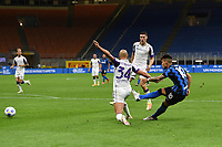 26th September 2020, San Siro Stadium, Milan, Italy; Serie A Football, Inter Milan versus Fiorentina;  The shot and goal scored by Lautaro Martinez for Inter