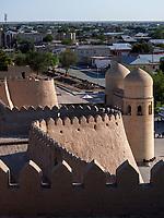 Ota-Tor, Mauer der Altstadt Ichan Qala, Xiva, , Usbekistan, Asien, UNESCO-Weltkulturerbe<br /> Ota-gate, City wall, historic city Ichan Qala, Chiwa, Uzbekistan, Asia, UNESCO heritage site