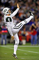 3 December 2009: New York Jets' punter Steven Weatherford in action against the Buffalo Bills at the Rogers Centre in Toronto, Ontario, Canada. The Jets defeated the Bills 19-13. Mandatory Credit: Ed Wolfstein Photo