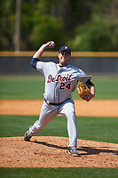 Detroit Tigers pitcher Jason Foley (24) during a minor league Spring Training game against the New York Yankees on March 22, 2017 at the Yankees Complex in Tampa, Florida.  (Mike Janes/Four Seam Images)