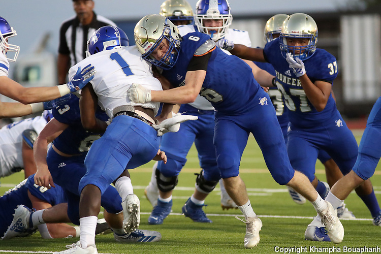 Boswell beats Brewer 17-0 in district 3-5A high school football at Pioneer Stadium in Fort Worth on Friday, September 27, 2019. (Photo by Khampha Bouaphanh