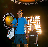 13-02-14, Netherlands,Rotterdam,Ahoy, ABNAMROWTT, Dominic Thiem(OOS) and Andy Murray(GRB)<br /> Photo:Tennisimages/Henk Koster