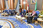 President of Egypt Abdel Fattah el-Sisi greets Saudi Arabia's King Salman bin Abdulaziz al-Saud ahead of the 14th Islamic Summit of the Organization of Islamic Cooperation (OIC) in Mecca, Saudi Arabia on June 1, 2019. Photo by Egyptian President Office