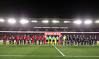 Carson, CA - Sunday January 28, 2018: United States (USA), Bosnia and Herzegovina (BIH) prior to an international friendly between the men's national teams of the United States (USA) and Bosnia and Herzegovina (BIH) at the StubHub Center.