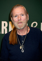 NEW YORK, NY - MARCH 04: Singer/songwriter Gregg Allman of The Allman Brothers Band promotes the release of his memoir 'My Cross To Bear' at Barnes & Noble, 5th Avenue on March 4, 2013 in New York City<br /> <br /> <br /> People:  Gregg Allman