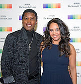 """Kenneth """"Babyface"""" Edmonds and Nicole Edmonds arrive for the formal Artist's Dinner honoring the recipients of the 40th Annual Kennedy Center Honors hosted by United States Secretary of State Rex Tillerson at the US Department of State in Washington, D.C. on Saturday, December 2, 2017. The 2017 honorees are: American dancer and choreographer Carmen de Lavallade; Cuban American singer-songwriter and actress Gloria Estefan; American hip hop artist and entertainment icon LL COOL J; American television writer and producer Norman Lear; and American musician and record producer Lionel Richie.  <br /> Credit: Ron Sachs / Pool via CNP"""
