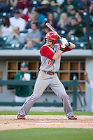 Brock Deatherage (13) of the North Carolina State Wolfpack at bat against the Charlotte 49ers at BB&T Ballpark on March 31, 2015 in Charlotte, North Carolina.  The Wolfpack defeated the 49ers 10-6.  (Brian Westerholt/Four Seam Images)