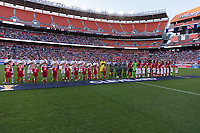 CLEVELAND, OHIO - JUNE 22: Starting 11 during a 2019 CONCACAF Gold Cup group D match between the United States and Trinidad & Tobago at FirstEnergy Stadium on June 22, 2019 in Cleveland, Ohio.