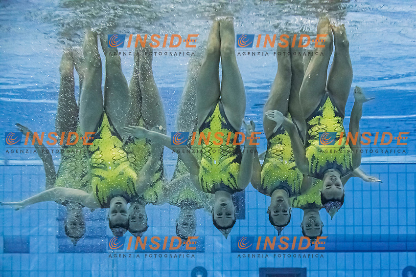 Team Spain<br /> Artistic swimming team free <br /> Duna Arena, Budapest 14/05/2021 <br /> Budapest/Hungary<br /> Photo © A. Kovacs/Deepbluemedia/Insidefoto