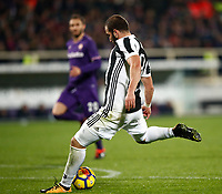 Calcio, Serie A: Fiorentina - Juventus, stadio Artemio Franchi Firenze 9 febbraio 2018.<br /> Juventus' Gonzalo Higuain scores during the Italian Serie A football match between Fiorentina and Juventus at Florence's Artemio Franchi stadium, February 9, 2018.<br /> UPDATE IMAGES PRESS/Isabella Bonotto