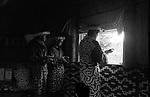 Ainu, indigenous people of Hokkaido, in their traditional festival, Chipusanke, in Nibutani.<br /> <br /> Ainu, peuple autochtone de Hokkaido, lors de leur fête traditionnelle, Chipusanke, à Nibutani. Japon.