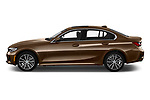 Car Driver side profile view of a 2019 BMW 3-Series-Sedan 330i-Sport-Line 4 Door Sedan Side View