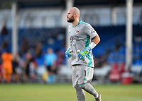 LAKE BUENA VISTA, FL - JULY 18: Marko Maric #1 of the Houston Dynamo follows the play during a game between Houston Dynamo and Portland Timbers at ESPN Wide World of Sports on July 18, 2020 in Lake Buena Vista, Florida.