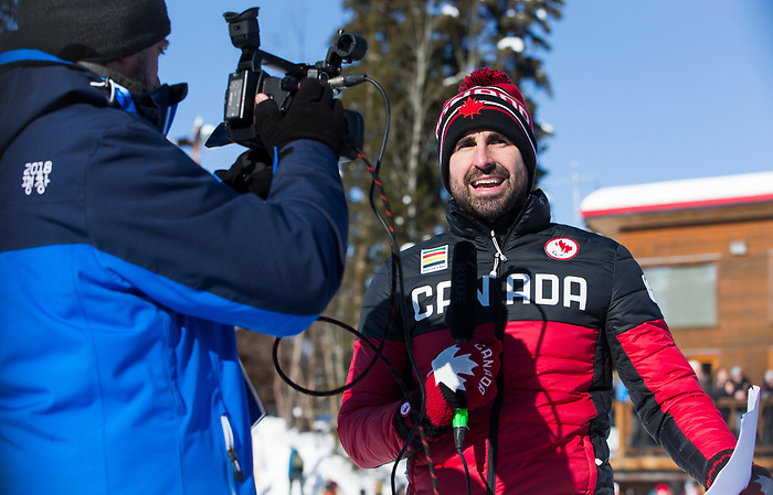 Prince George, B.-C., 17 February/2019 -  Men's 10km Cross Country Standing event at the 2019 World Para Nordic skiing Championships in Prince George, B.C. Photo Bob Frid/Canadian Paralympic Committee.