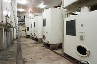 Steel fermentation tanks in the winery Domaine de Triennes Nans-les-Pins Var Cote d'Azur France