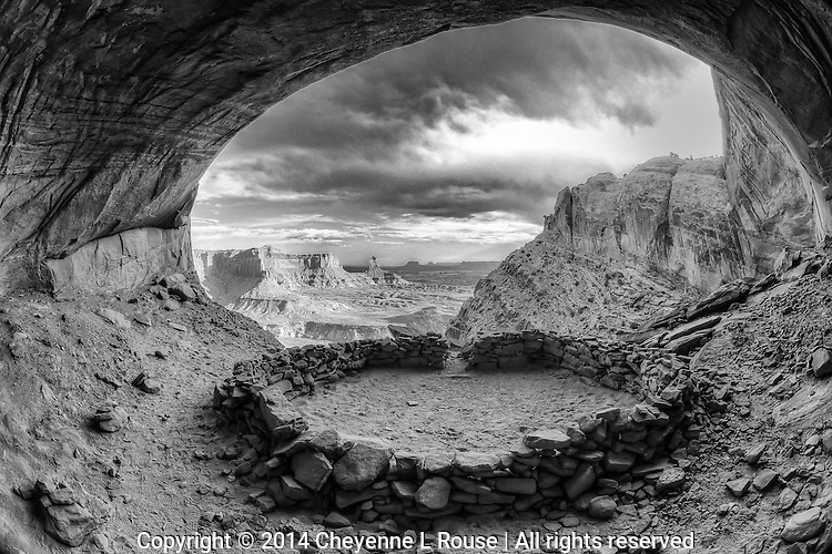 Alcove of the Ancients (BW)- Four Corners region - Southwest