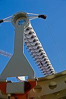 Airlight Energy, prototipo parabolico lineare a 2 assi di rotazione, dettaglio del ricevitore