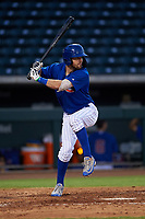 AZL Cubs 1 Zac Taylor (83) at bat during an Arizona League game against the AZL Angels on June 24, 2019 at Sloan Park in Mesa, Arizona. AZL Cubs 1 defeated the AZL Angels 12-0. (Zachary Lucy / Four Seam Images)