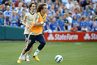 Chelsea F.C training at Busch Stadium, St Louis ahead of the friendly game verus Manchester City..David Luiz.