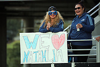 Fans in the grandstand during the Super Rugby Women match between the Blues and Chiefs at Eden Park in Auckland, New Zealand on Saturday, 1 May 2021. Photo: Dave Lintott / lintottphoto.co.nz