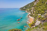 Myrtiotissa beach at Corfu, Greece