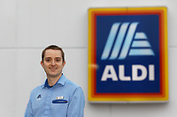 2021 03 04 Aldi store reopening in Cardigan, west Wales, UK