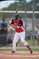 Kayden Voelkel (20) during the WWBA World Championship at Lee County Player Development Complex on October 10, 2020 in Fort Myers, Florida.  Kayden Voelkel, a resident of Mansfield, Texas who attends Mansfield Legacy High School.  (Mike Janes/Four Seam Images)