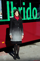 The Mayor of Rome Virginia Raggi during the presentation of a new fleet of hybrid public buses. <br /> Rome (Italy), November  27th 2020<br /> Photo Samantha Zucchi Insidefoto