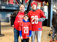 Washington, DC - Sunday JAN 26, 2020: Fans pose for a photo at the DC Defenders open house at  Audi Field in Washington, DC. (Photo by Phil Peters/Media Images International)