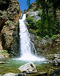 Morocco, High Atlas, near Setti Fatma at Toubkal National Park: Waterfall in Ourika Valley | Marokko, Hoher Atlas, bei Setti Fatma im Toubkal National Park: Wasserfall im Ourika Valley