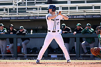 CARY, NC - FEBRUARY 23: Curtis Robison #17 of Penn State University waits for a pitch during a game between Wagner and Penn State at Coleman Field at USA Baseball National Training Complex on February 23, 2020 in Cary, North Carolina.