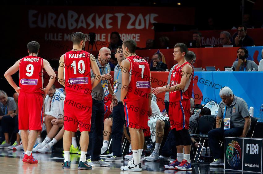 Serbia's Aleksandar Djordjevic during European championship basketball match for third place between France and Serbia on September 20, 2015 in Lille, France  (credit image & photo: Pedja Milosavljevic / STARSPORT)