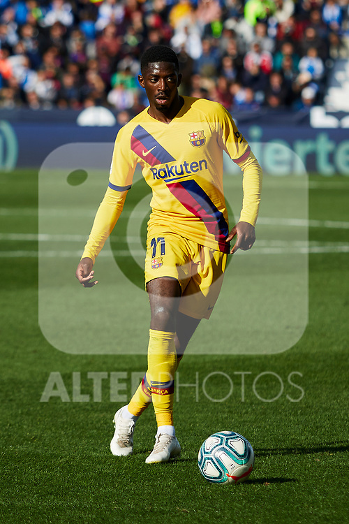 Ousmane Dembele of FC Barcelona during La Liga match between CD Leganes and FC Barcelona at Butarque Stadium in Leganes, Spain. November 23, 2019. (ALTERPHOTOS/A. Perez Meca)