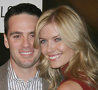 NASCAR driver Jimmie Johnson and wife Chandra 11-29-07, 11-29-07 Photo By John Barrett/PHOTOlink