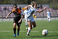 Claudia Ciccotti of AS Roma and Stefania Tarenzi of FC Internazionale compete for the ball during the Women Serie A football match between AS Roma and FC Internazionale at stadio Agostino Di Bartolomei, Roma, March 20th, 2021. AS Roma won 4-3 over FC Internazionale. Photo Andrea Staccioli / Insidefoto