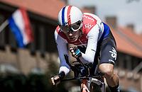 Dutch ITT champion Dylan Van Baarle (NED/Team Sky) during his TT. <br /> <br /> Binckbank Tour 2018 (UCI World Tour)<br /> Stage 2: ITT Venray (NL) 12.7km