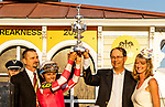 MAY 15, 2021: Preakness Stakes  winners circle celebrationat Pimlico Racecourse in Baltimore, Maryland on May 15, 2021. EversEclipse Sportswire/CSM