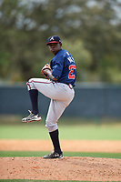 Atlanta Braves Bladimir Matos (27) during a minor league Spring Training game against the Detroit Tigers on March 25, 2017 at ESPN Wide World of Sports Complex in Orlando, Florida.  (Mike Janes/Four Seam Images)