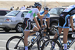 Omega Pharma-Quick Step team rider and Irish Champion Matt Brammeier (IRL) warms up before the 2nd Stage of the 2012 Tour of Qatar an 11.3km team time trial at Lusail Circuit, Doha, Qatar. 6th February 2012.<br /> (Photo Eoin Clarke/Newsfile)