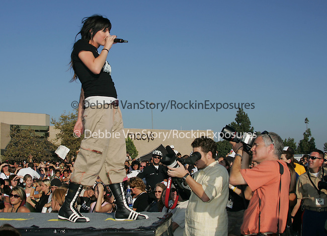 Ashlee Simpson performs live for thousands of fans at The Simon D-Tour held at The Brea Mall in Brea,California on October 9,2004.(Pictured:Ashlee Simpson) .Copyright 2004 by RockinExposures