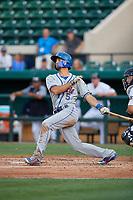 St. Lucie Mets Jacob Zanon (5) during a Florida State League game against the Lakeland Flying Tigers on April 24, 2019 at Publix Field at Joker Marchant Stadium in Lakeland, Florida.  Lakeland defeated St. Lucie 10-4.  (Mike Janes/Four Seam Images)
