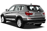 Rear three quarter view of a 2011 BMW x3 xDrive35i SUV