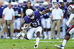 TCU Horned Frogs running back Kyle Hicks (21) in action during the game between the Samford Bulldogs and the TCU Horned Frogs at the Amon G. Carter Stadium in Fort Worth, Texas.  TCU leads Stamford 24 to 7 at halftime.