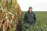 Bob Bunselmeyer grows corn and soybeans in Macon County, Ill., outside of Forsyth (north of Decatur). Note: in this series, the corn is his and the soybeans are his neighbor's. Photo by Kristen Schmid: (217) 553-2812; Bunselmeyer: (217) 412-3176