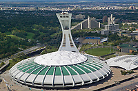aerial photograph of the Olympic Stadium, Montreal, Quebec, Canada | aerial photograph of the Olympic Stadium and Biodome, Montreal, Quebec, Canada